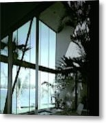 A Screened Patio Metal Print