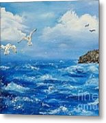 A Seagull's View George's Head Kilkee Co. Clare Metal Print