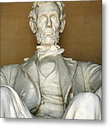 A Seated Abe Lincoln Metal Print