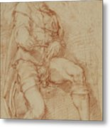 A Seated Man Bernardino Poccetti Barbatelli Metal Print