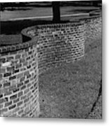 A Serpentine Brick Wall Metal Print