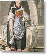 A Serving Girl At An Inn Metal Print