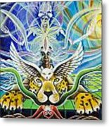 A Shaman's Journey Through The Heart Of The Sun Metal Print by Morgan  Mandala Manley