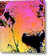 What Is So Sheep About A Kiss Metal Print