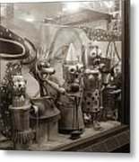 A Shop Window At Berkeley Metal Print by Hiroko Sakai