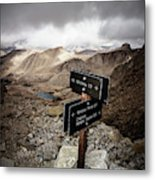 A Signed Trail Junction On The Way Metal Print