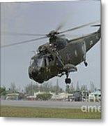 A Sikorsky S-61a4 Helicopter Metal Print