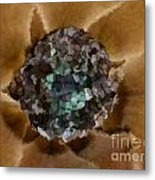 A Sky Full Of Lighters Brown Teal Metal Print by Holley Jacobs