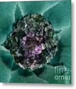 A Sky Full Of Lighters Teal Purple Metal Print