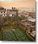A Skyline View Of Roof Tops Metal Print
