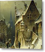 A Small Town In The Rhine Metal Print
