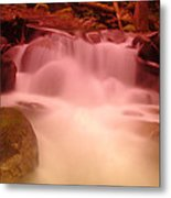 A Small Waterfall Along The Old North Cascade Highway  Metal Print