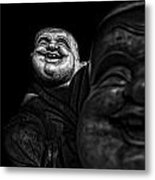 A Smile On The Shoulder - Bw Metal Print