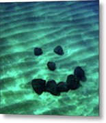 A Smiley Face Formed By Large Boulders Metal Print