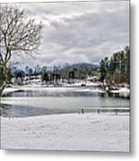 A Snowy Day On Lake Chatuge Metal Print