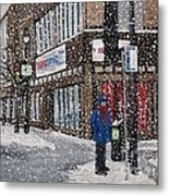 A Snowy Day On Wellington Metal Print by Reb Frost