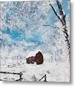 A Snowy Winters Day Metal Print