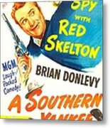 A Southern Yankee, Us Poster, Red Metal Print