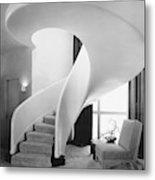 A Spiral Staircase Metal Print