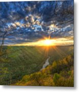 A Spring Sunset On Beauty Mountain In West Virginia. Metal Print