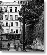 A Spring Walk In The City Bw Metal Print