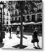 A Square In Toledo - Spain Metal Print