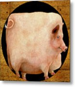 A Square Pig In A Round Hole... Metal Print