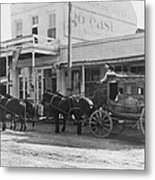 A Stagecoach In Tombstone Metal Print