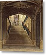 A Staircase, Windsor Castle, From Royal Metal Print