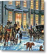 A Stately Christmas Metal Print