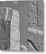 A Stone Of Hope Bw Metal Print by Susan Candelario