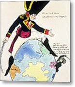 A Stoppage To A Stride Over The Globe, 1803 Litho Metal Print