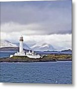 A Storm And The Lighthouse Metal Print