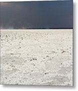 A Storm Approaching The Salt Pan Metal Print