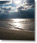 A Storm Is Brewing Over The Gulf Coast Metal Print