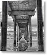 A Stormy Day In San Diego At The Metal Print