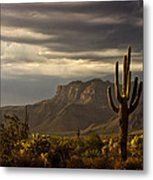 A Stormy Evening In The Superstitions  Metal Print