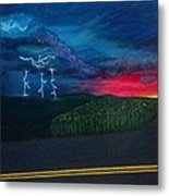A Stormy Sunset Metal Print
