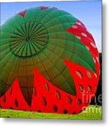 A Strawberry Balloon Metal Print
