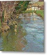 A Stream In Spring Metal Print