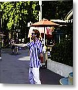 A Street Entertainer In The Hollywood Section Of The Universal Studios Metal Print