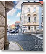 A Street In Prague Metal Print
