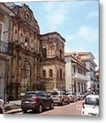 A Street In The Old Quarter. Metal Print