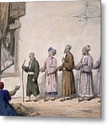 A String Of Blind Beggars, Cabul, 1843 Metal Print