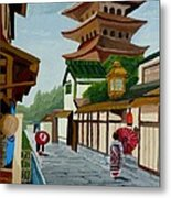 A Stroll In Old Kyoto Metal Print