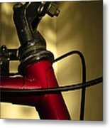 A Study In Scarlet Bicycle Metal Print by Guy Ricketts
