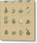 A Study Of Turtles Metal Print
