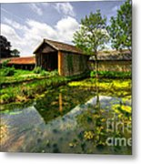 a Suffolk Barn Metal Print