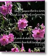 A Summer's Day Pink Romance Metal Print
