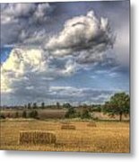 A Summers Evening Farm Metal Print